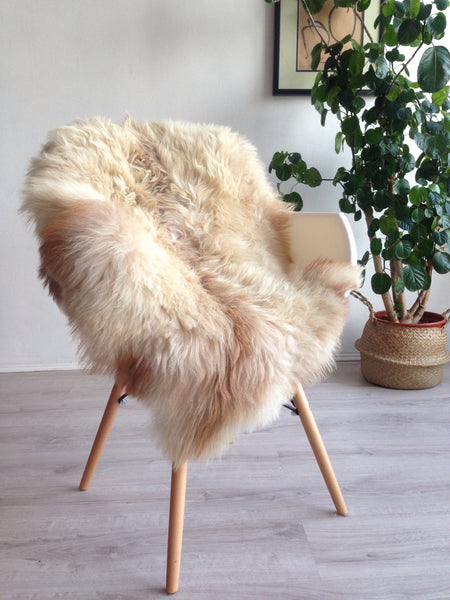 Mixed Beige Plush Sheepskin