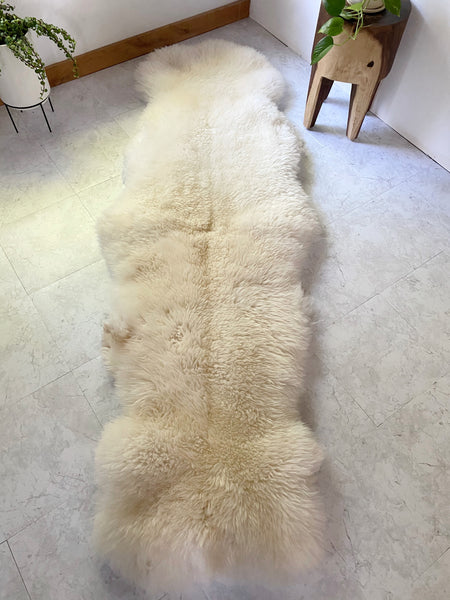Double Sheepskin in Golden White (One-of-a-Kind)
