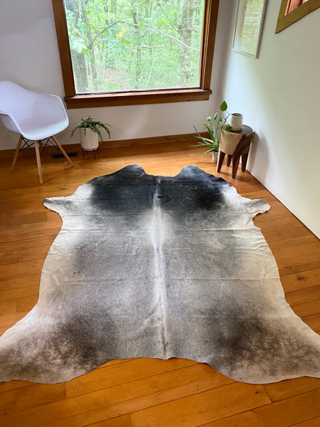 Natural Cowhide in Grey and Black