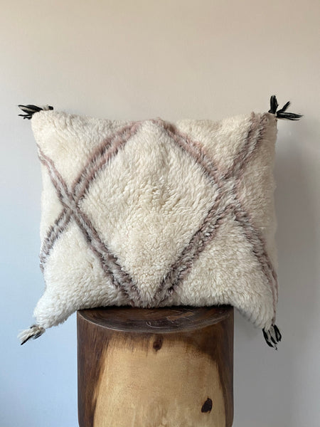 Beni Ourain Wool Pillow #1