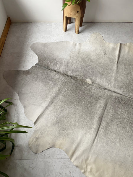 Light Grey Natural Cowhide
