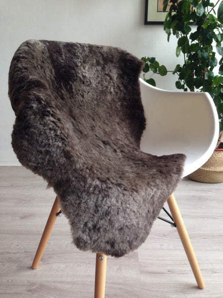 Grey Silky Sheared Sheepskin