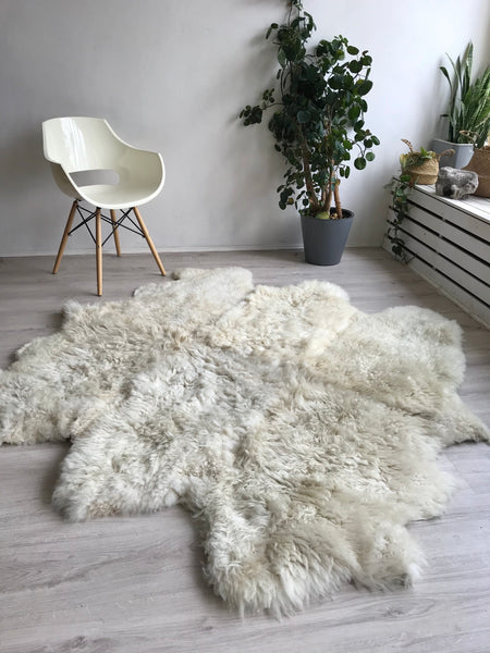Ethical sheepskin rug