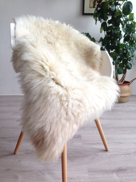White and Beige Sheepskin
