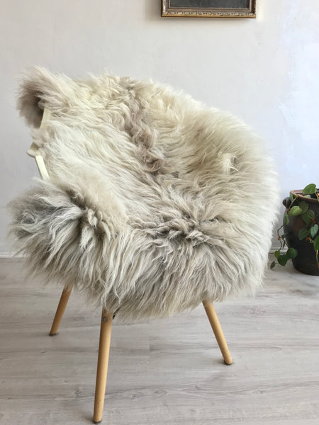 Linen and Grey Icelandic Sheepskin
