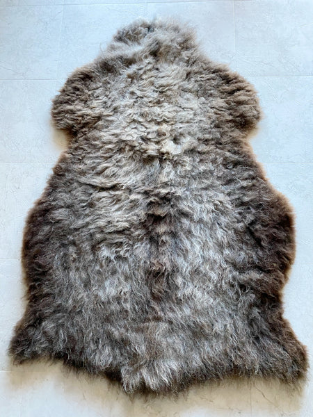 Grey and Brown Sheepskin