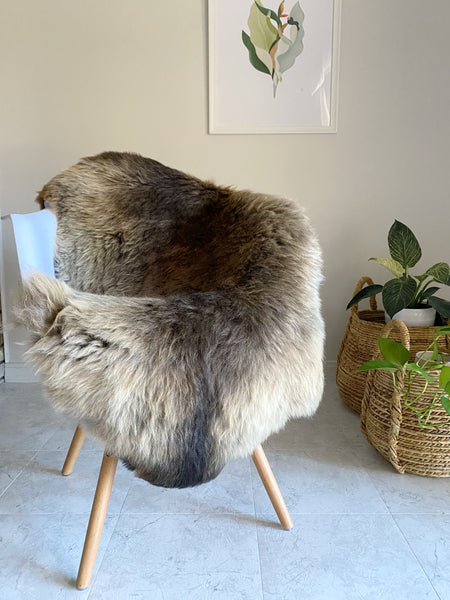 Exclusive Mixed Brown Sheepskin