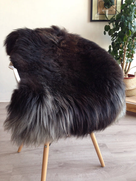 Extra Plush Black, Red and Grey Sheepskin