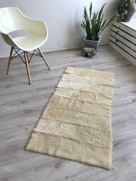 Rare Sheared Sheepskin Yoga Mat