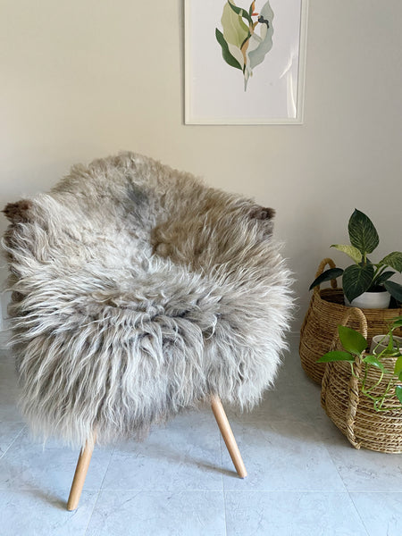 Chrome Brown Boho Sheepskin