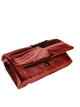 Elegant Date Night Red Velvet Clutch Bag - Shop Canary Clothing