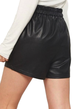 Black Leather Star Studded Shorts with Pockets - Shop Canary Clothing