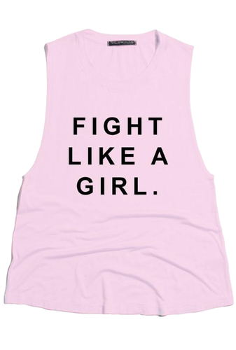 Fight Like A Girl Tank Top Women History Month empowerment  - Shop Canary Clothing