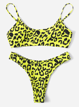 Wild Neon Cheetah Print Bikini - SHOP CANARY CLOTHING