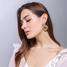 Gold Metal Drop Earrings Fine Jewelry Accessories Statement Hanging Dangle - Shop Canary Clothing