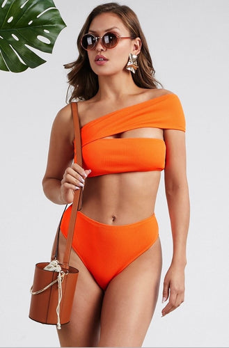 Tangerine Bikini Set - SHOP CANARY CLOTHING