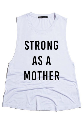 Strong As A Mother Tank Top  Women's History Month Empowerment- Shop Canary Clothing