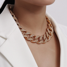 Cuban Chain Necklace Statement Gold Color Chunky Thick Choker Necklace for Women Jewelry - Shop Canary Clothing