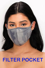 Unisex Fabric reusable washable Camouflage face mask with filter pocket - Shop Canary Clothing