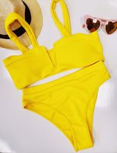 Sunshine Yellow V Wired  Bikini - SHOP CANARY CLOTHING