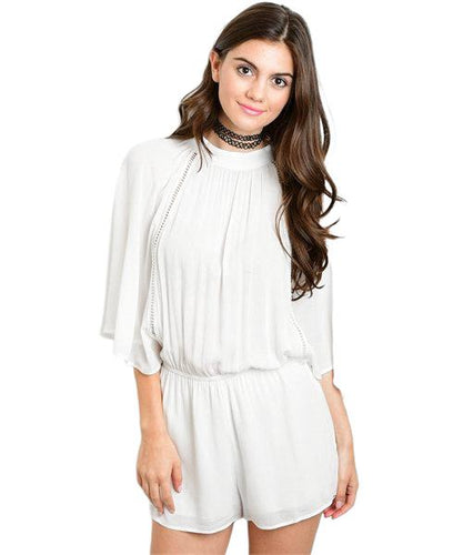 Great Gatsby 1920's with this vintage inspired white romper - Shop Canary Clothing
