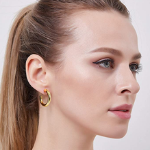 14K Gold Plated Chunky Hoop Earrings - Shop Canary Clothing