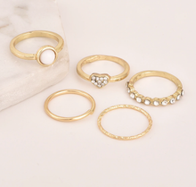Bohemian Vintage Gold  5pcs Knuckle Ring Set  - Shop Canary Clothing