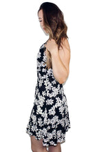 90's retro inspired sleeveless floral print mini sun dress - Shop Canary Clothing