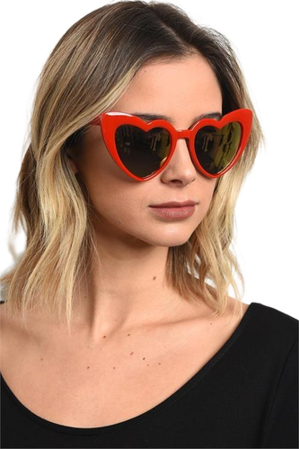 Going Steady Heart Shaped Cateye Sunglasses - Shop Canary Clothing