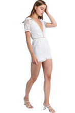 Blanca White Lace Short Romper - Shop Canary Clothing
