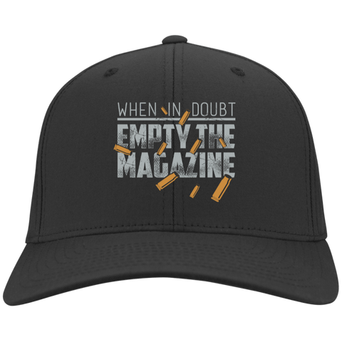 EMPTY THE MAGAZINE Personalized Twill Cap - Creative Military Apparel