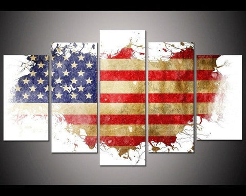 Canvas - American Flag 4 Wall Portrait