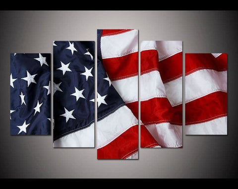 Canvas - American Flag 5 Wall Portrait