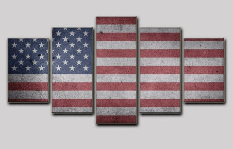 Canvas - American Flag 6 Wall Portrait