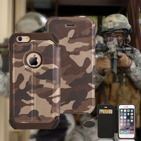 Phone Case - Military Camouflage IPhone Wallet Case