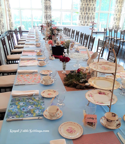 Alice In Wonderland Finished Look Long Table Shot by Royal Table Settings