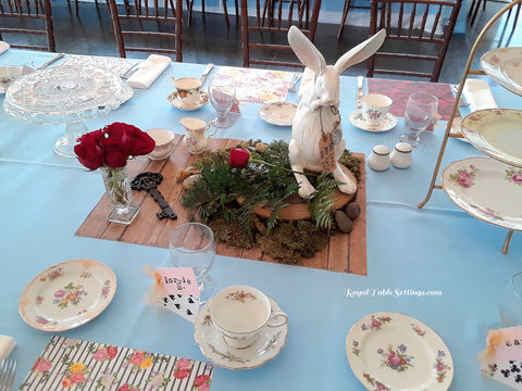 "Finished ""wood"" section for Alice in Wonderland by Royal Table Settings"