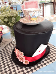 Mad Hatter Hat with Teacup on top!