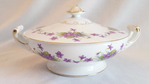 Vintage Covered Serving Bowls