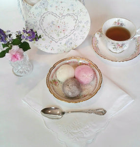 Vintage Dessert Bowl with Mymo Mochi Ice Cream by Royal Table Settings