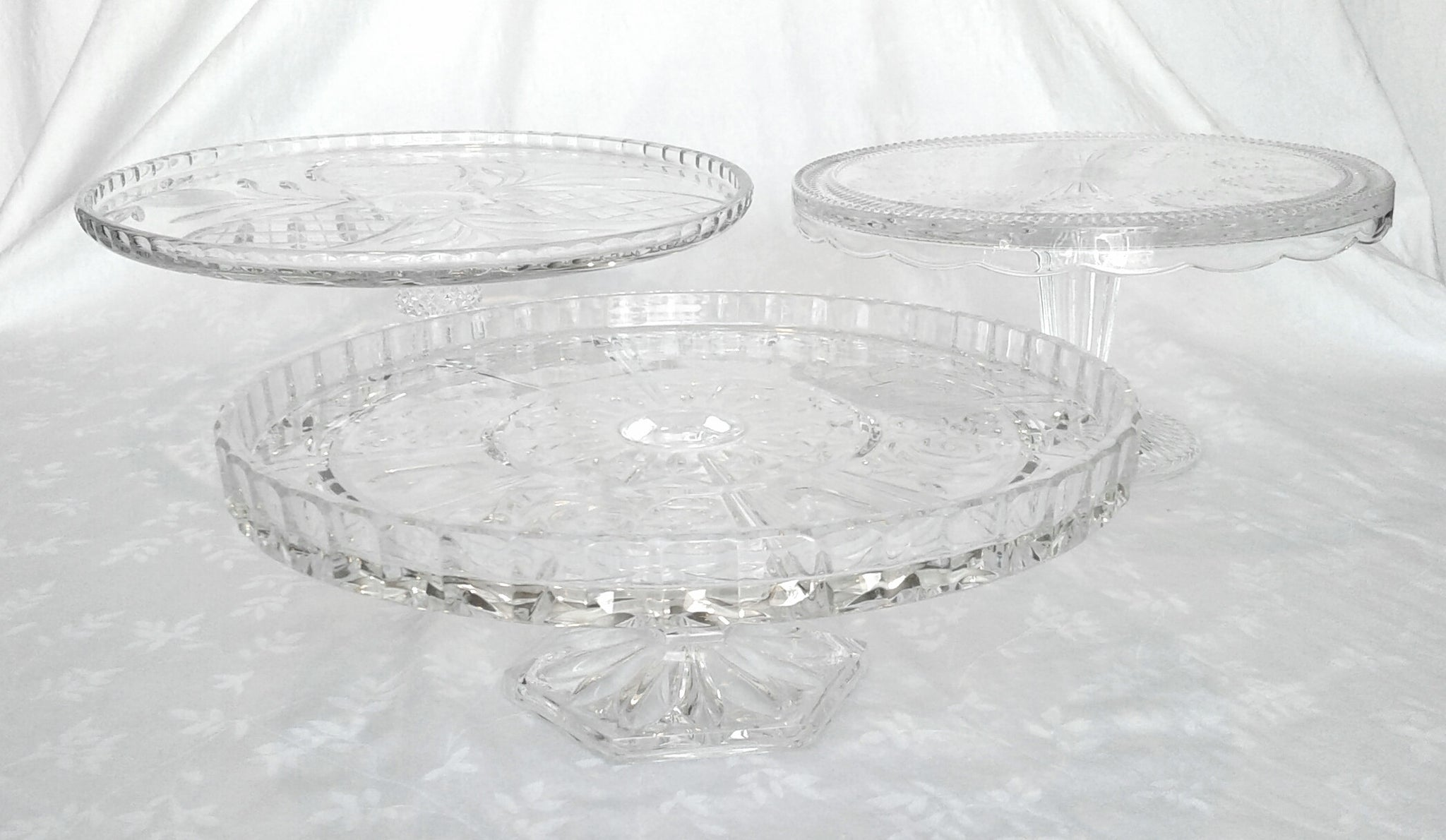 Large Crystal Cake Stands
