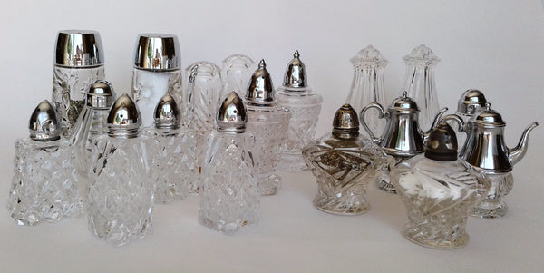 Crystal & Glass Salt & Pepper Sets by Royal Table Settings
