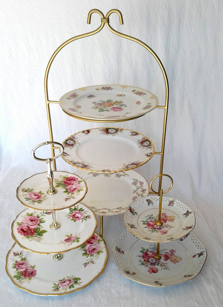 High Tea Stand showcased with 2 and 3 Tiered Cake Stands