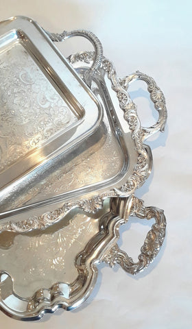Large Silver-Plated Trays
