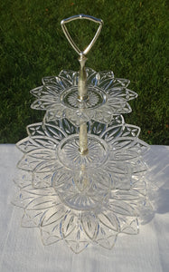 3 Tiered Glass Serving Tray