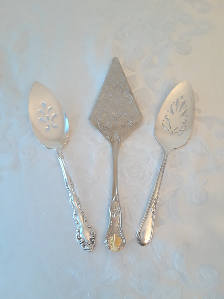 Silver-Plated Cake Servers
