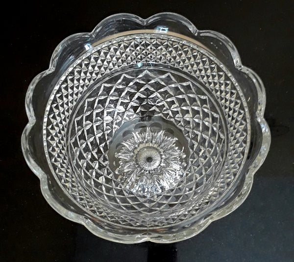 Tall Glass Serving Bowl (inside view)