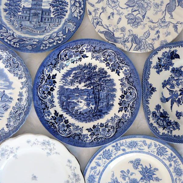 Blue and White Salad Plates
