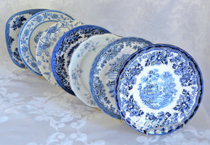 Blue & White Salad Plates