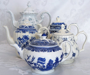 Blue & White Teapot or Coffee Pot